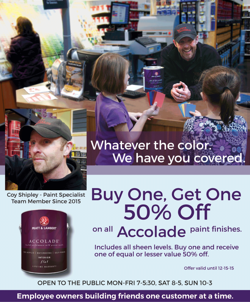 But One get one 50% off of Accolad until Dec15, 2015