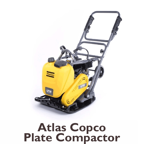 Atlas copco plate compactor for rent at Angeles rentals in Port Angeles, Washington