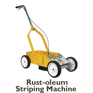 rustoleum striping machine for painting for rent at Angeles rentals in Port Angeles, Washington