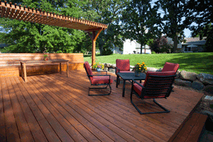 An image showing the beautiful and long-lasting treated decking