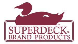 Superdeck brand logo with a duck