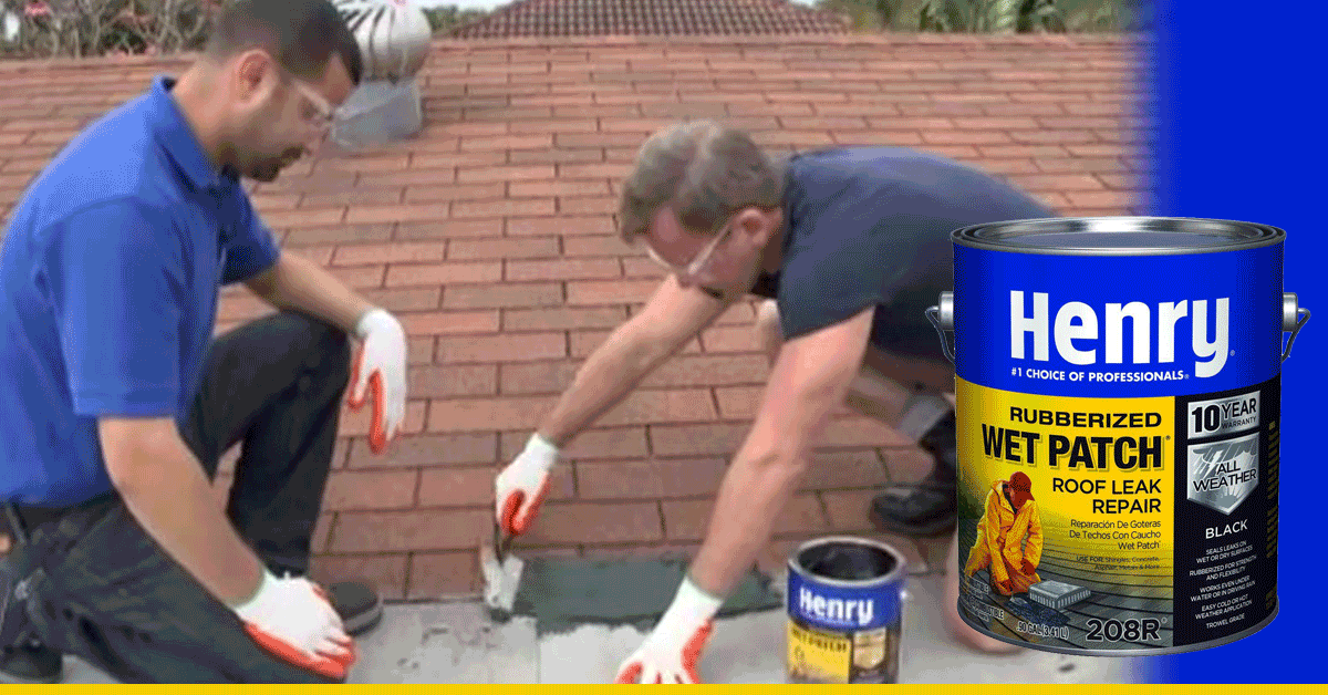 Repairing A Roof Leak With Henry S Wet Patch