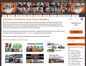 Account Holding Contractors! Get a FREE Web Page & Join us
