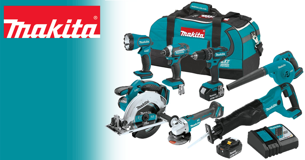 On Sale! $180 OFF the Makita 3.0Ah 18V LXT Lithium-Ion Cordless 7 Piece Combo Kit
