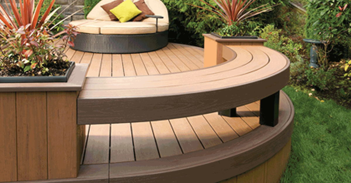 Composite pvc decking for Vinyl decking materials