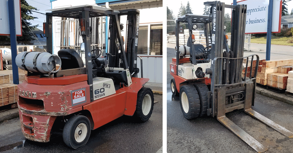 2004 Nissan UGJ02A30EV Forklift For Sale