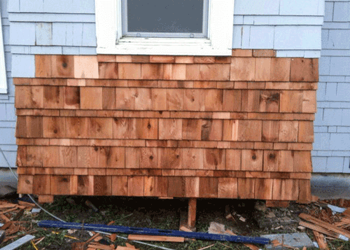 Exterior Siding Remodel with Cedar