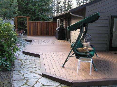 Composite Deck and Cedar Fence