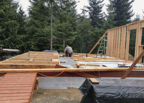 Framing of Small Home Build