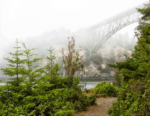In the Fog Deception Pass, WA By John Hummel