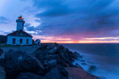 Fort Worden Light House Port Townsend, WA By Yirong Liu
