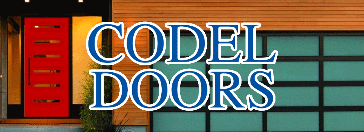Codel Entry System Logo and the front of a contemporary house