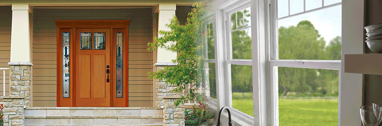 Door and kitchen windows