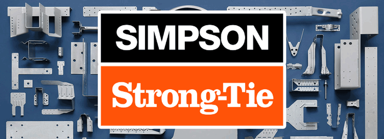Simpson Strong Tie Logo and plates in the background