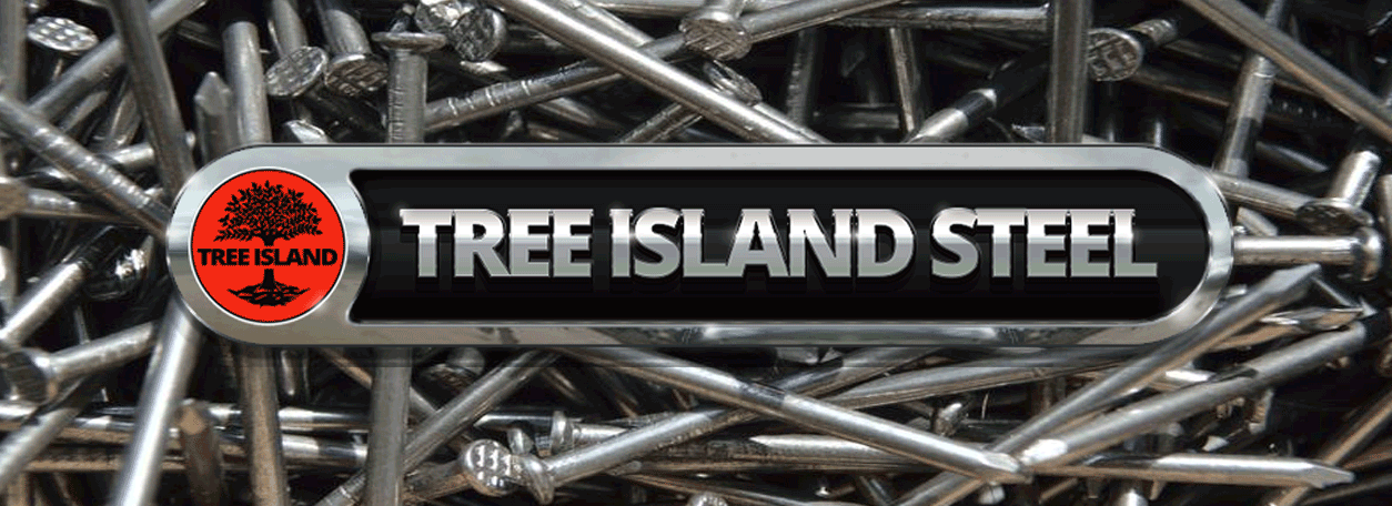 Tre Islamd Steel Logo with nails in the background