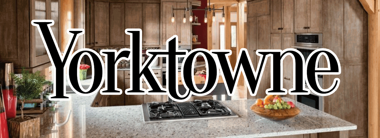 Yorktowne Cabinetry Logo and kitchen cabinets