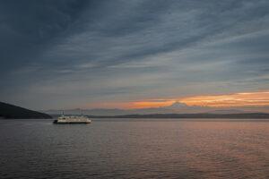Derek Walker Washington State Ferry at Sunrise San Juan Islands WA