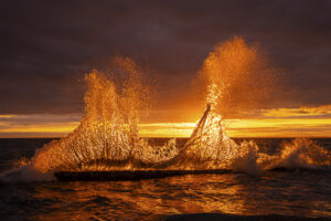 Gary Skiff Sunset Wave West Beach Road Oak Harbor